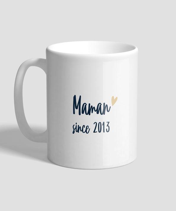 Mug modèle Maman since