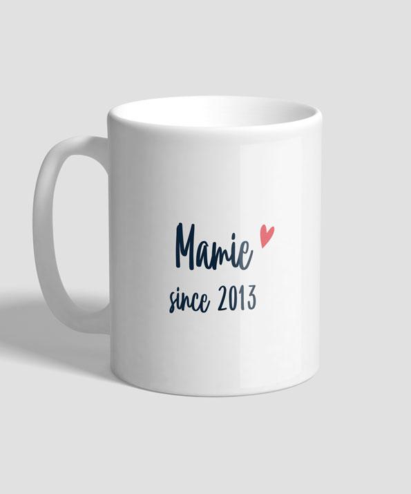 Mug modèle Mamie since