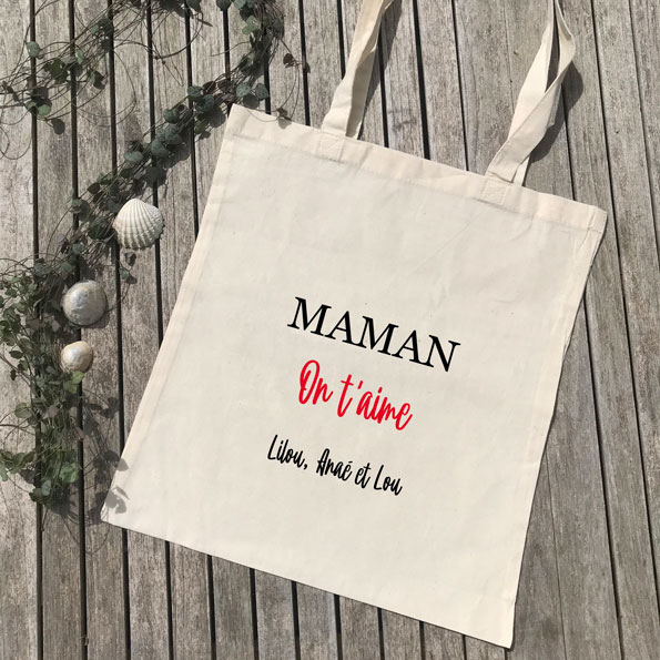 Tote bag Maman on t'aime