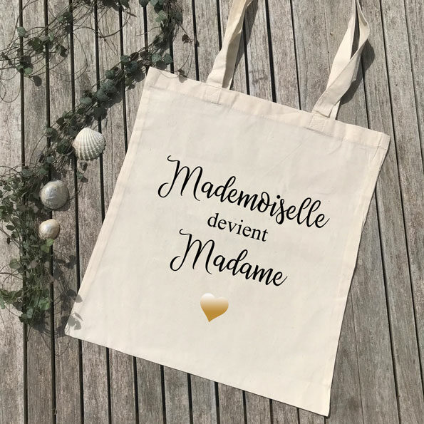 Tote Bag Mademoiselle devient Madame