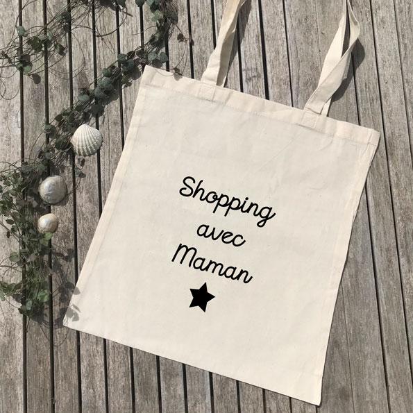 Tote bag Shopping avec Maman