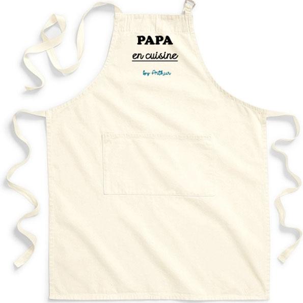 tablier papa en cuisine