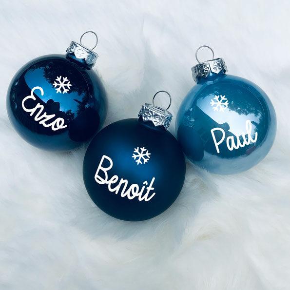 Boule de Noël tons bleus
