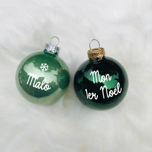 Boule de Noël tons vert