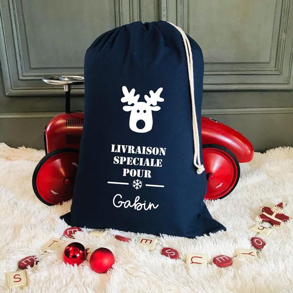 Hotte de Noël Marine