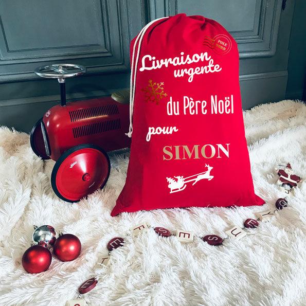 Hotte de Noël Rouge