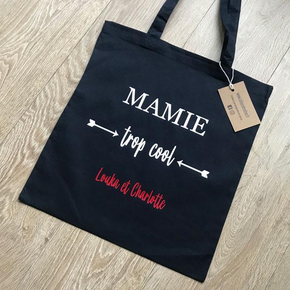 Tote bag Mamie trop cool